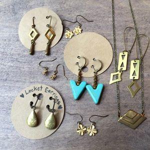 Jewelry - Bundle handmade antique brass jewelry NWT unworn
